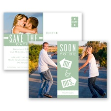 Fun-Filled Photo - Meadow - Save The Date Postcard