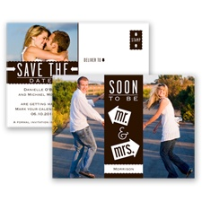 Fun-Filled Photo - Chocolate - Save The Date Postcard