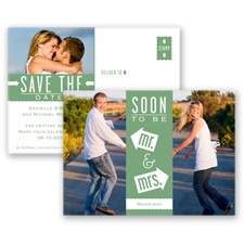 Fun-Filled Photo - Clover - Save The Date Postcard