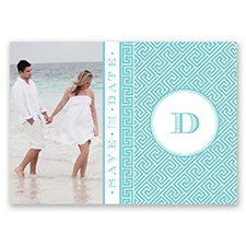 Greek Isles Photo - Pool - Save the Date Postcard