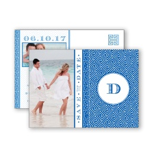 Greek Isles Photo - Horizon - Save the Date Postcard