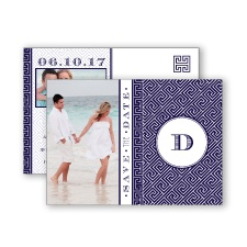 Greek Isles Photo - Lapis - Save the Date Postcard