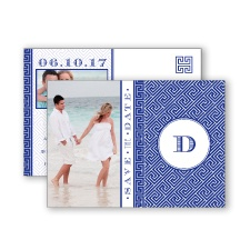 Greek Isles Photo - Regency - Save the Date Postcard