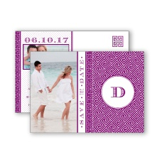 Greek Isles Photo - Sangria - Save the Date Postcard