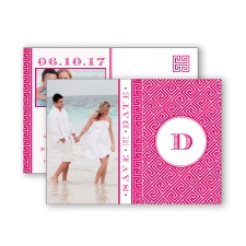 Greek Isles Photo - Watermelon - Save the Date Postcard