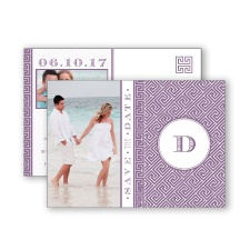 Greek Isles Photo - Wisteria - Save the Date Postcard
