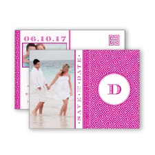Greek Isles Photo - Begonia - Save the Date Postcard