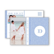 Greek Isles Photo - Bluebird - Save the Date Postcard
