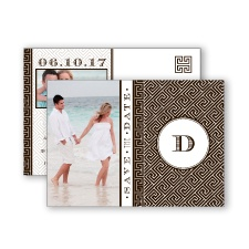 Greek Isles Photo - Chocolate - Save the Date Postcard