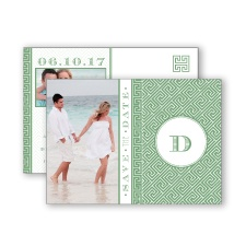 Greek Isles Photo - Clover - Save the Date Postcard