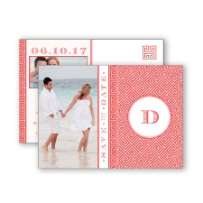 Greek Isles Photo - Guava - Save the Date Postcard