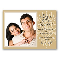 Henna Spice - Golden - Save the Date Magnet