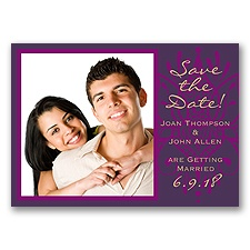 Henna Spice - Plum - Save the Date Magnet