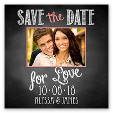 Chalkboard Love Photo - Coral Reef - Save the Date Magnet
