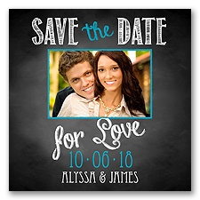 Chalkboard Love Photo - Malibu - Save the Date Magnet