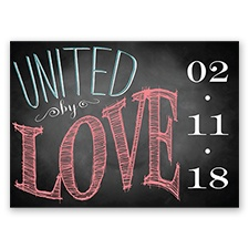 Chalkboard Chic Photo - Coral Reef - Save the Date Postcard