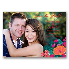Paradise Garden - Begonia - Save the Date Photo Postcard