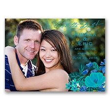 Paradise Garden - Horizon - Save the Date Photo Postcard