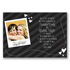 Snappy Snap Shot - Black - Invitation