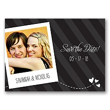 Snappy Snap Shot - Black - Save the Date Postcard