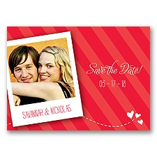Snappy Snap Shot - Poppy - Save the Date Postcard