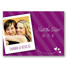 Snappy Snap Shot - Sangria - Save the Date Postcard