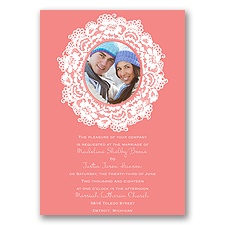 Ring of Lace - Coral Reef - Invitation