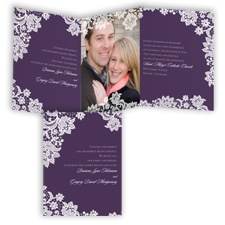 Extravagant Lace - Plum - Invitation