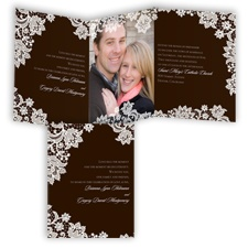 Extravagant Lace - Chocolate - Invitation