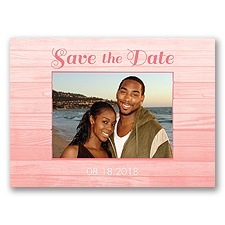 Boardwalk Love - Coral Reef - Save the Date Postcard
