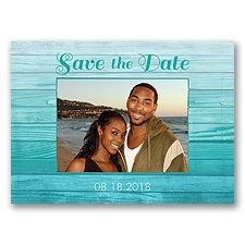 Boardwalk Love - Pool - Save the Date Postcard