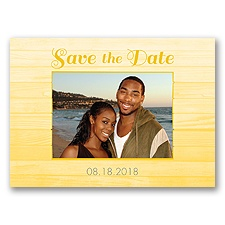 Boardwalk Love - Sunbeam - Save the Date Postcard