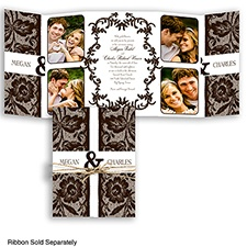 Down Home Lace - Chocolate - Invitation