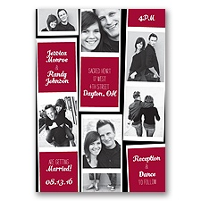 Photo Strip Style - Apple - Invitation