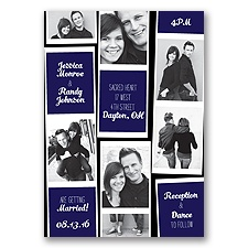 Photo Strip Style - Lapis - Invitation