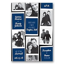 Photo Strip Style - Marine - Invitation
