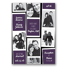 Photo Strip Style - Plum - Invitation