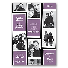 Photo Strip Style - Wisteria - Invitation