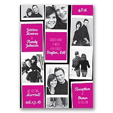 Photo Strip Style - Begonia - Invitation