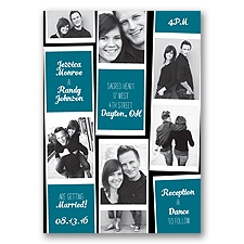Photo Strip Style - Oasis - Invitation