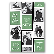 Photo Strip Style - Clover - Invitation