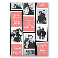 Photo Strip Style - Coral Reef - Invitation