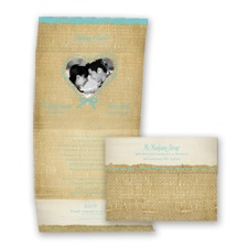 Burlap Heart Photo - Pool - Seal and Send Invitation
