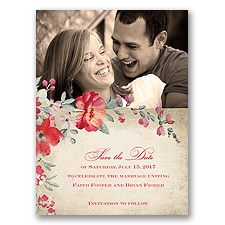 Floral Romance - Poppy - Save the Date
