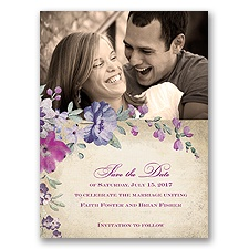Floral Romance - Sangria - Save the Date