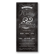 Beaming Chalkboard Glitter - Invitation