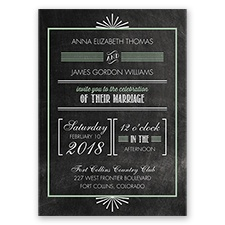 Dazzling Typography Glitter - Meadow - Invitation