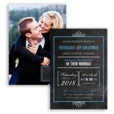 Dazzling Typography Glitter - Cornflower - Invitation