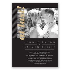 Brilliant Bling Glitter - Golden - Invitation
