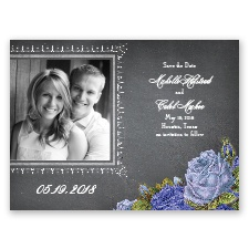 Romantic Chalkboard Roses - Regency - Save the Date